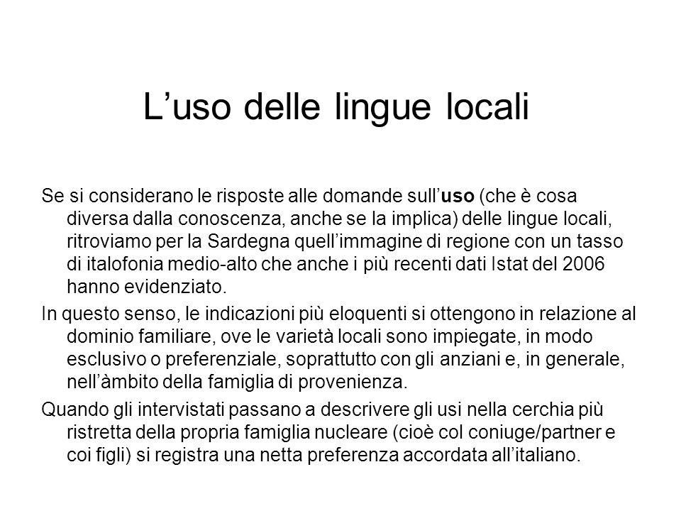 L'uso delle lingue locali