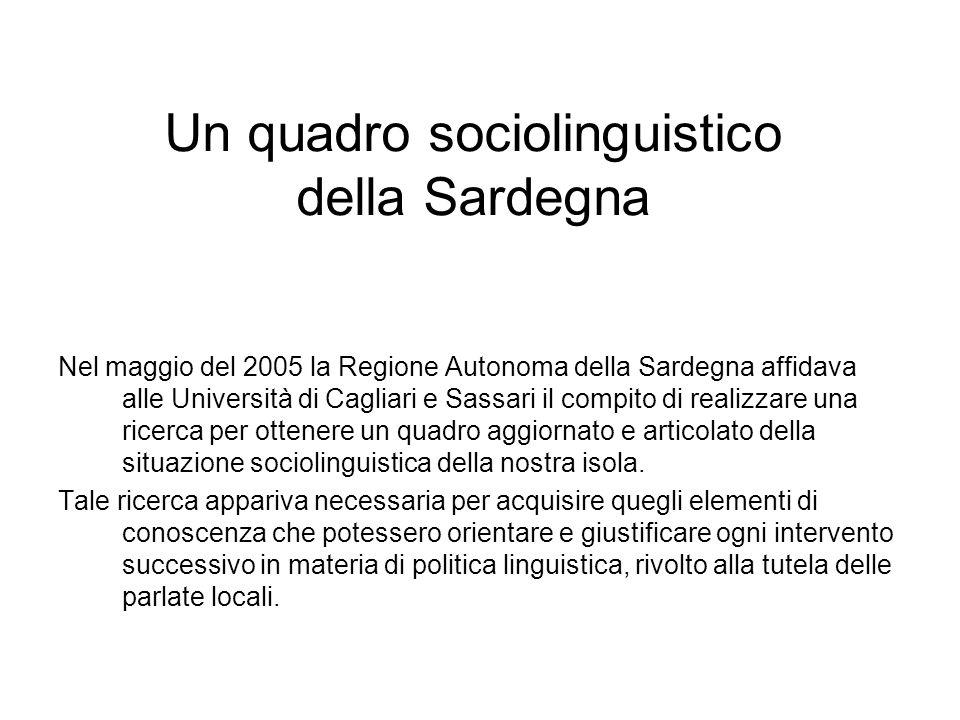 Un quadro sociolinguistico della Sardegna