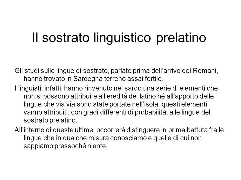 Il sostrato linguistico prelatino