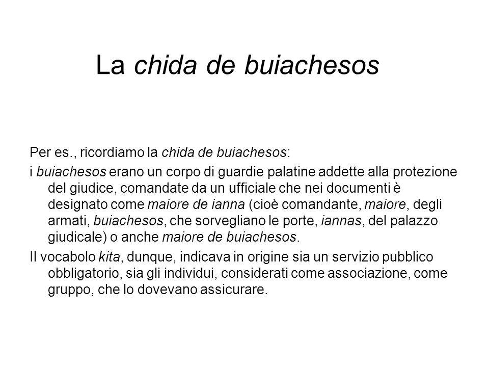 La chida de buiachesos Per es., ricordiamo la chida de buiachesos: