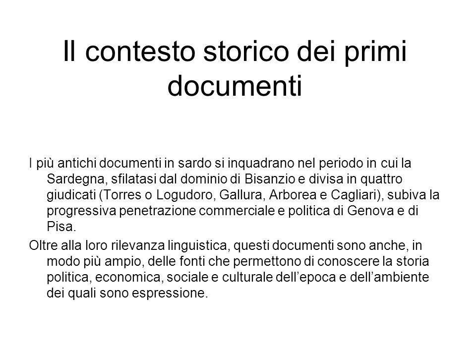 Il contesto storico dei primi documenti