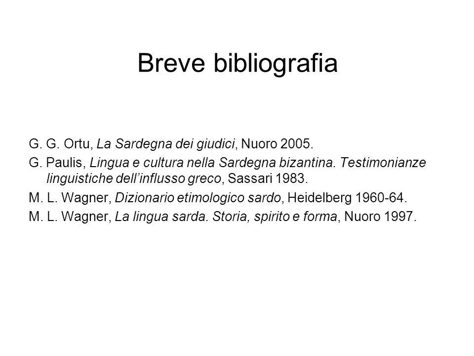 Breve bibliografia G. G. Ortu, La Sardegna dei giudici, Nuoro 2005.