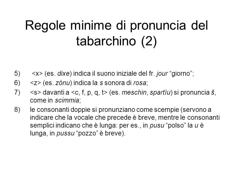 Regole minime di pronuncia del tabarchino (2)
