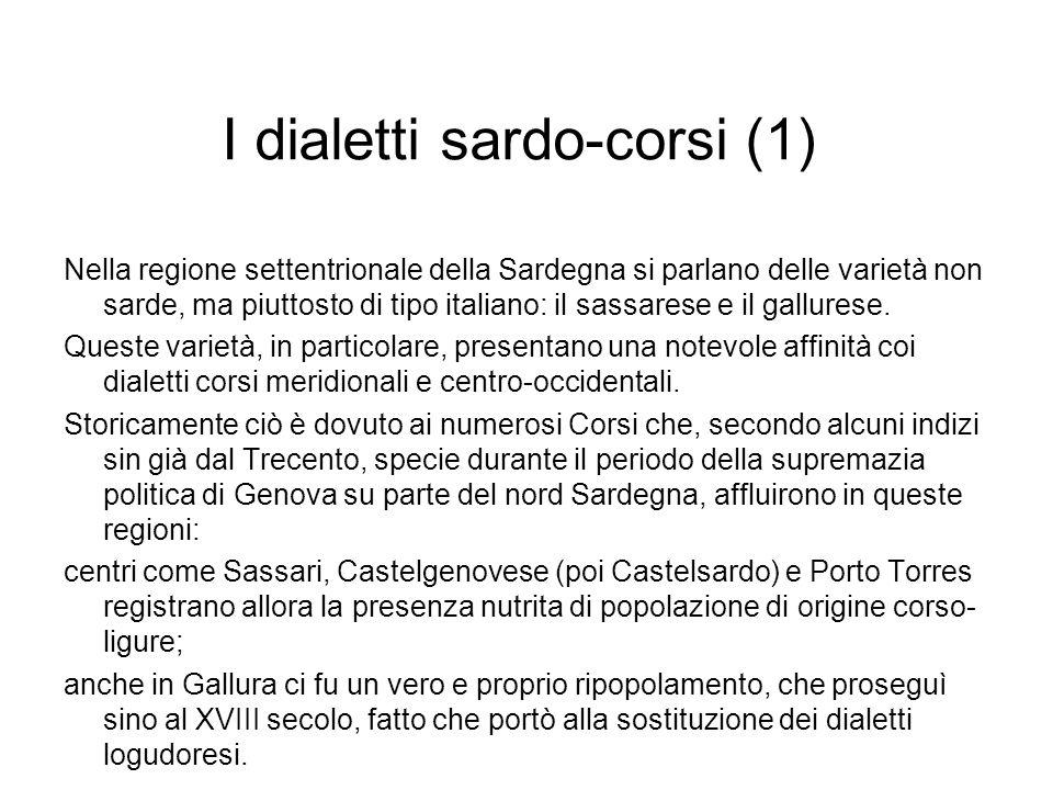 I dialetti sardo-corsi (1)