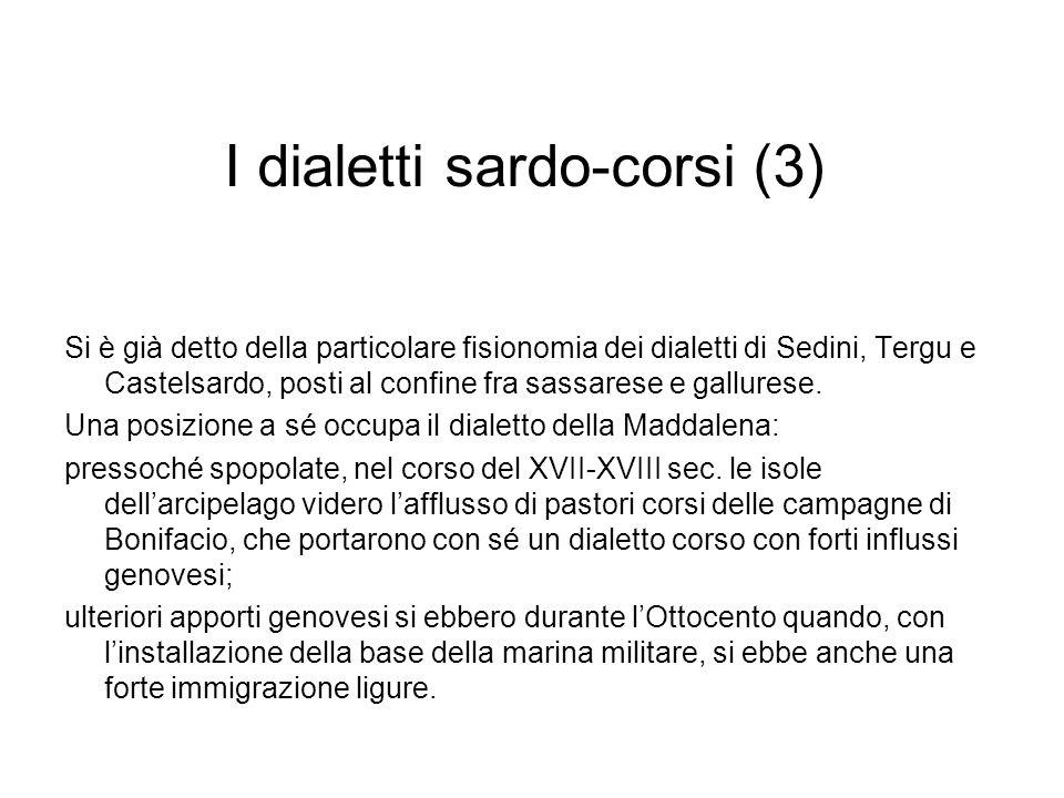 I dialetti sardo-corsi (3)
