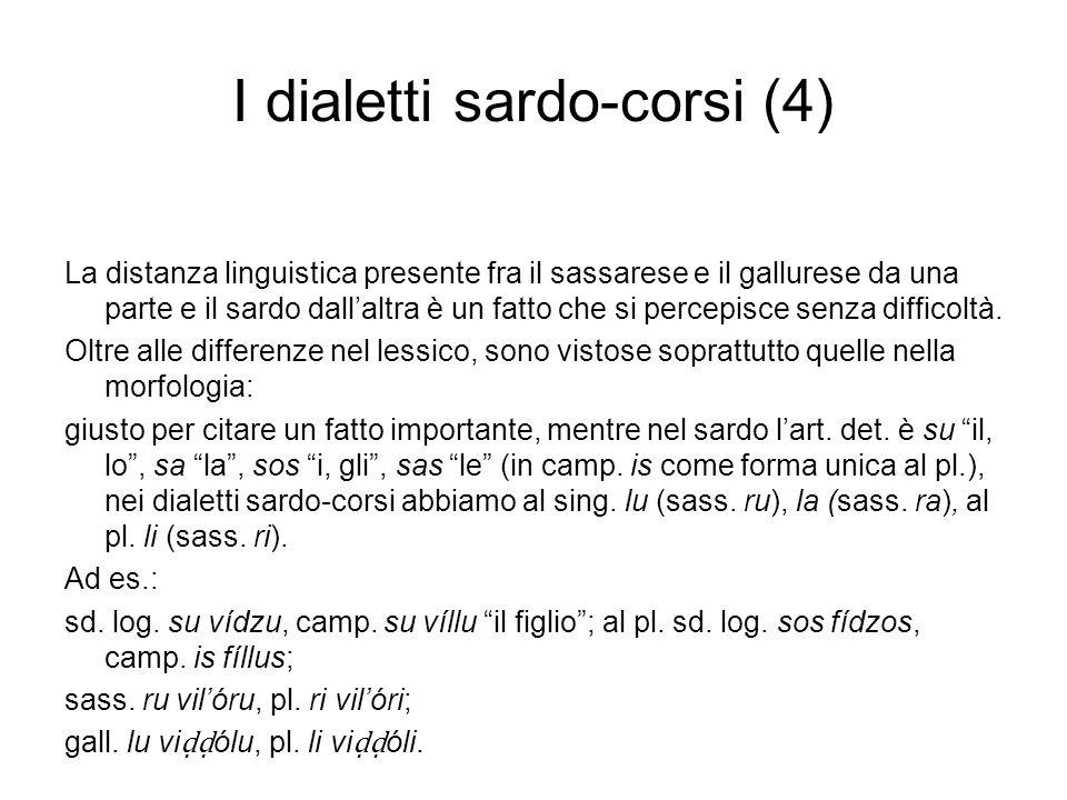 I dialetti sardo-corsi (4)