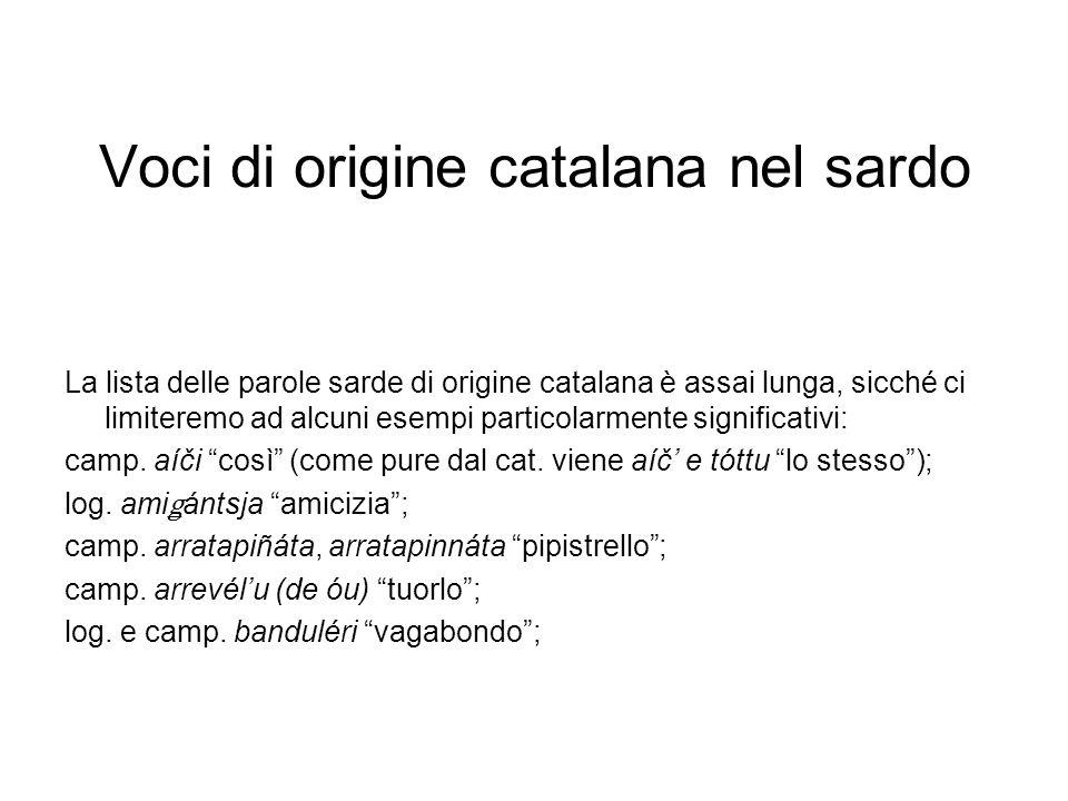 Voci di origine catalana nel sardo