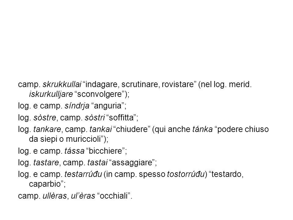 camp. skrukkullai indagare, scrutinare, rovistare (nel log. merid