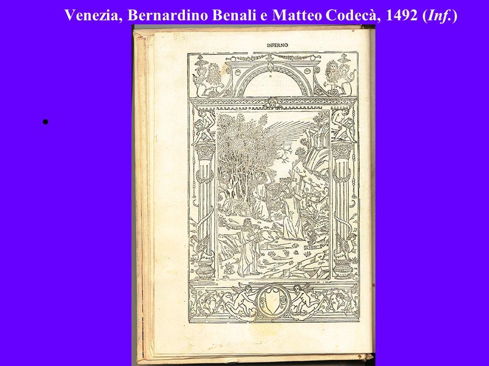 Venezia, Bernardino Benali e Matteo Codecà, 1492 (Inf.)
