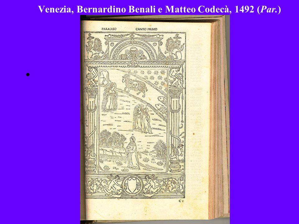 Venezia, Bernardino Benali e Matteo Codecà, 1492 (Par.)