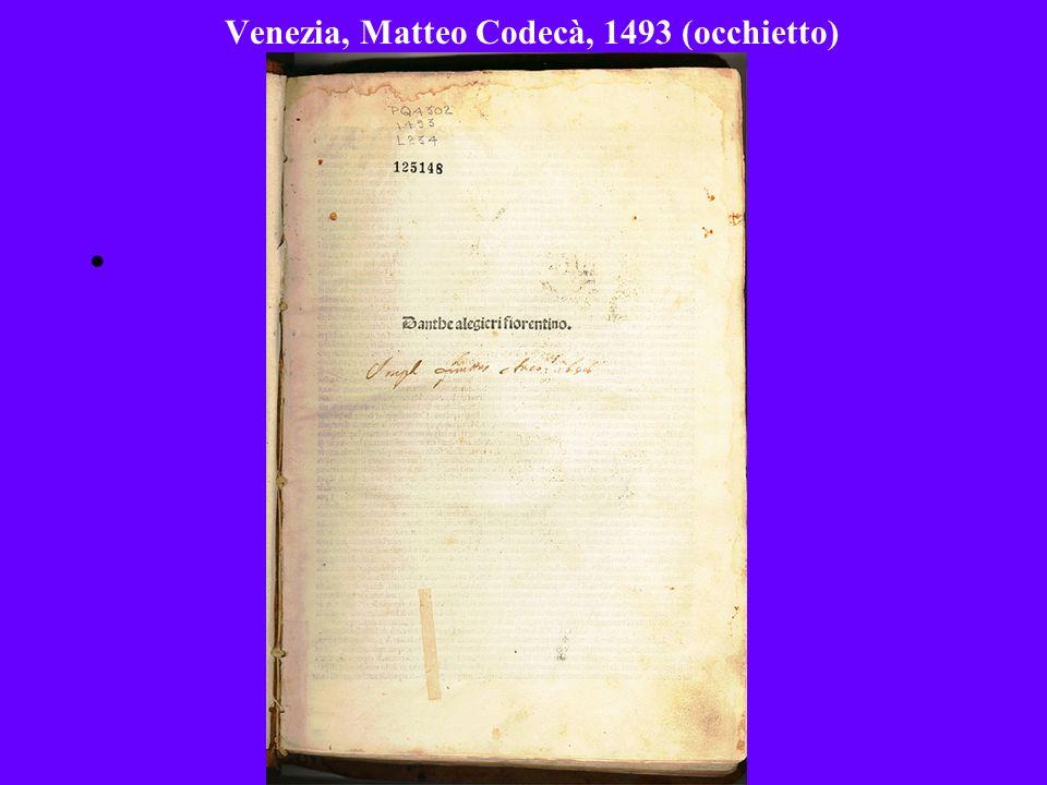 Venezia, Matteo Codecà, 1493 (occhietto)