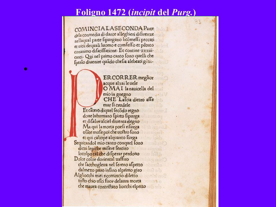 Foligno 1472 (incipit del Purg.)