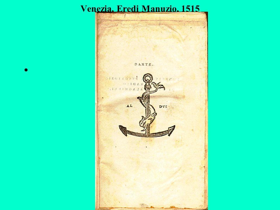 Venezia, Eredi Manuzio, 1515