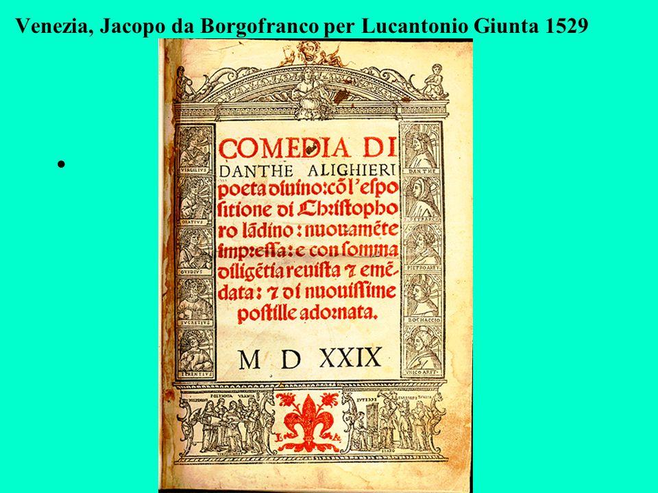Venezia, Jacopo da Borgofranco per Lucantonio Giunta 1529