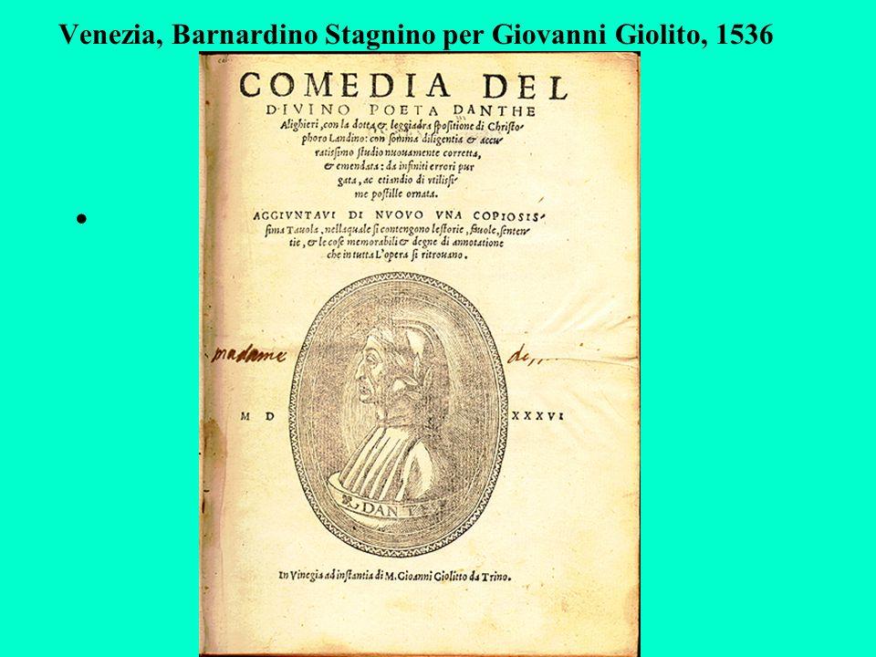 Venezia, Barnardino Stagnino per Giovanni Giolito, 1536