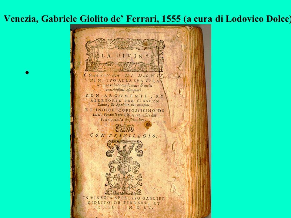 Venezia, Gabriele Giolito de' Ferrari, 1555 (a cura di Lodovico Dolce)