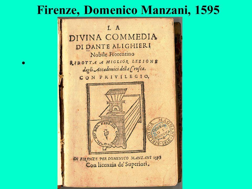 Firenze, Domenico Manzani, 1595