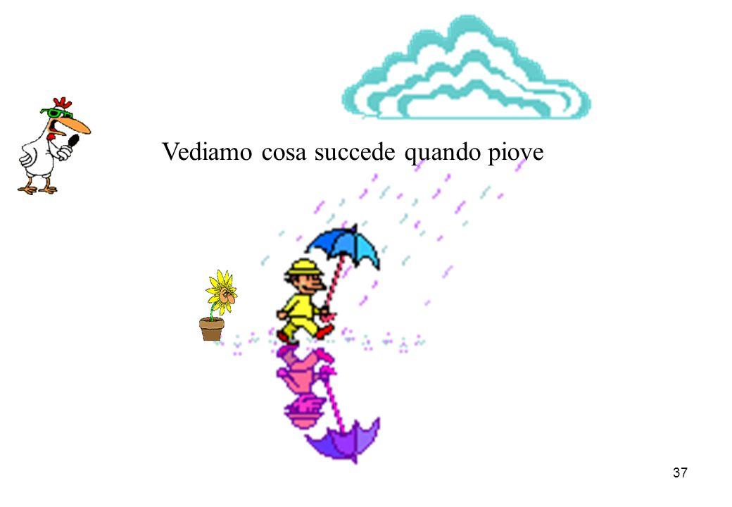 Vediamo cosa succede quando piove