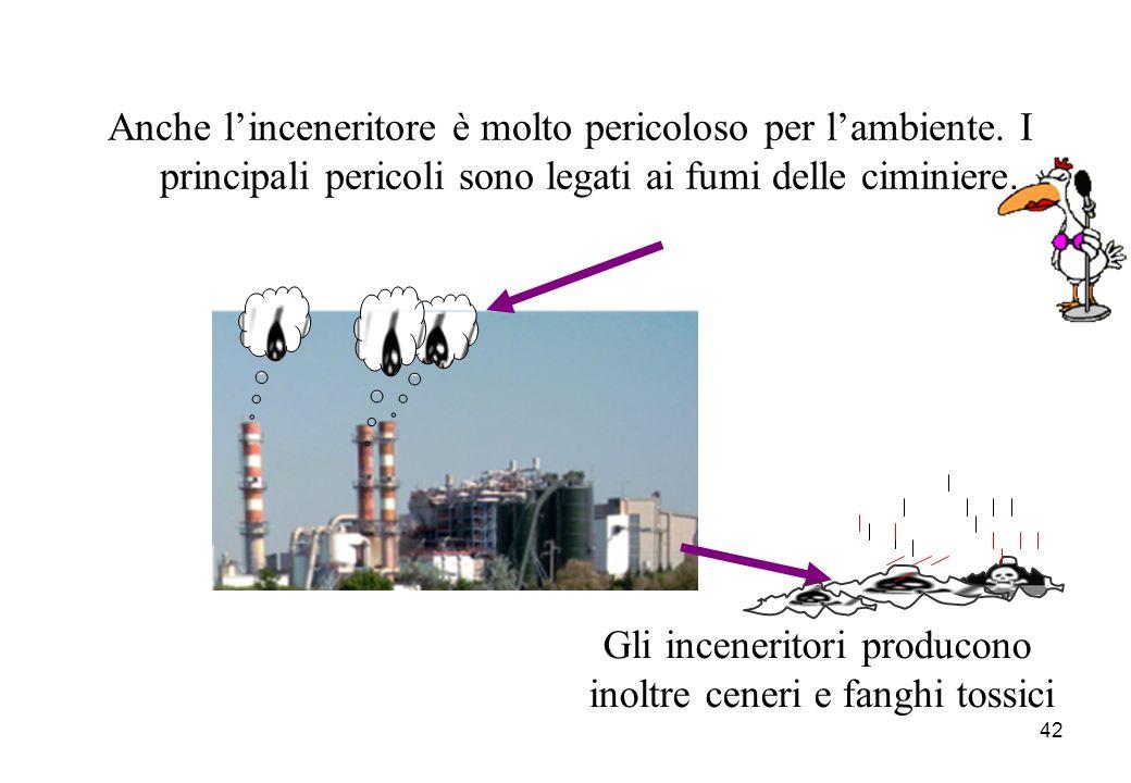 Gli inceneritori producono inoltre ceneri e fanghi tossici