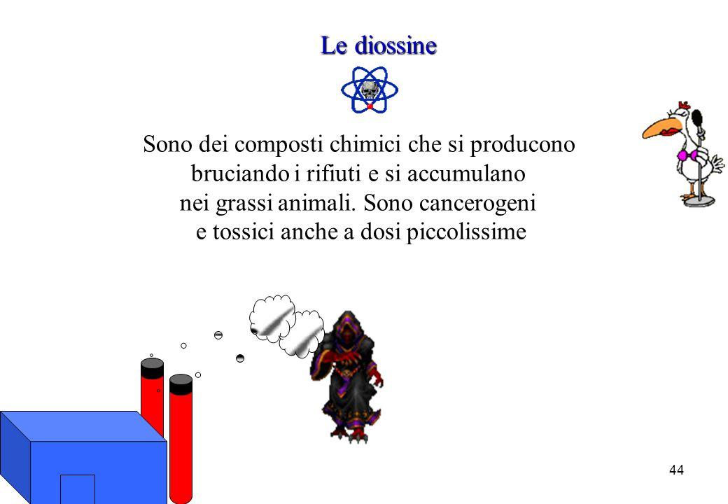 Le diossine Sono dei composti chimici che si producono