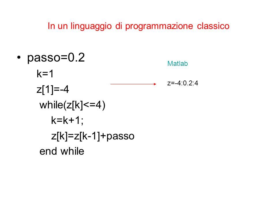 In un linguaggio di programmazione classico