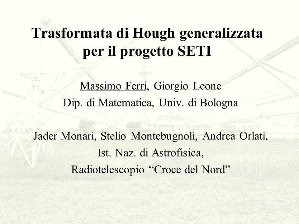 Trasformata di Hough generalizzata per il progetto SETI