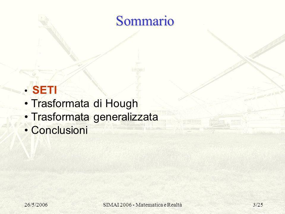 SIMAI 2006 - Matematica e Realtà