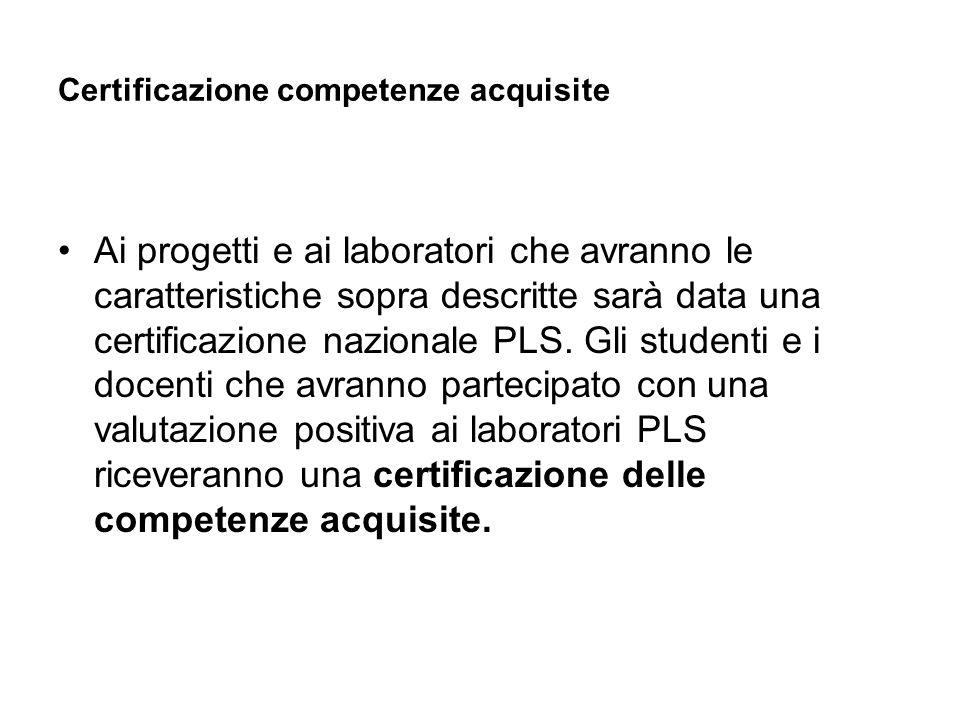 Certificazione competenze acquisite