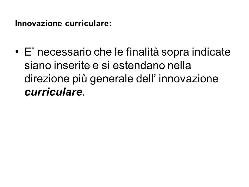 Innovazione curriculare: