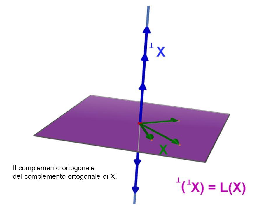 Il complemento ortogonale