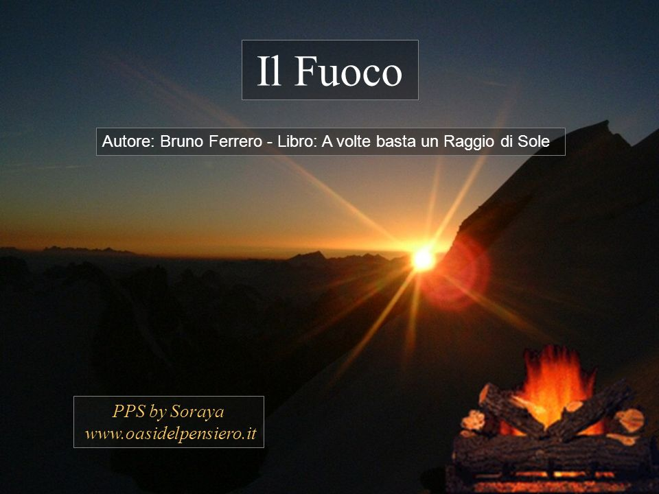 Il Fuoco PPS by Soraya www.oasidelpensiero.it