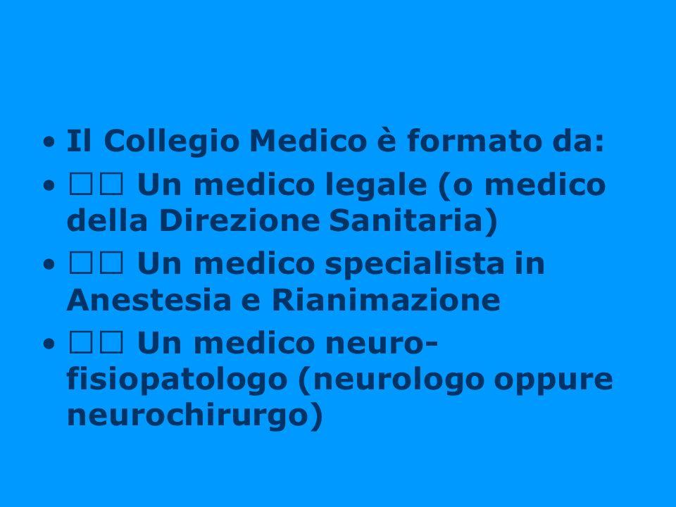 Il Collegio Medico è formato da: