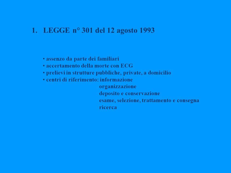 LEGGE n° 301 del 12 agosto 1993 assenzo da parte dei familiari