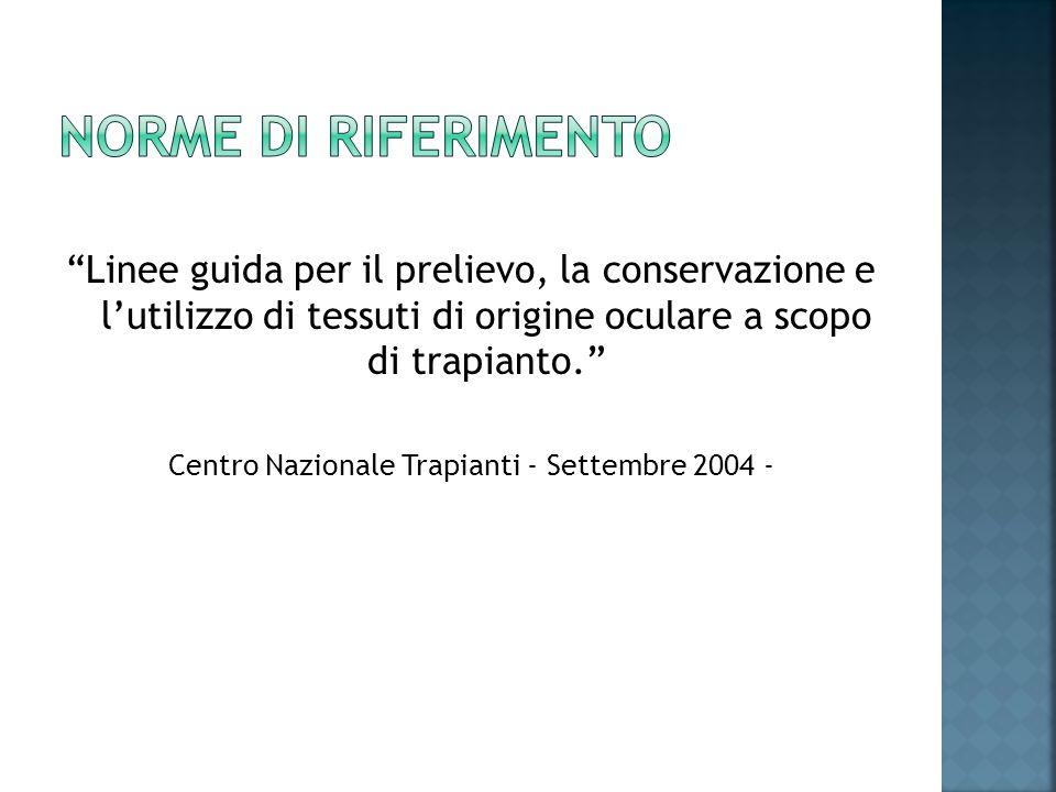 Centro Nazionale Trapianti - Settembre 2004 -