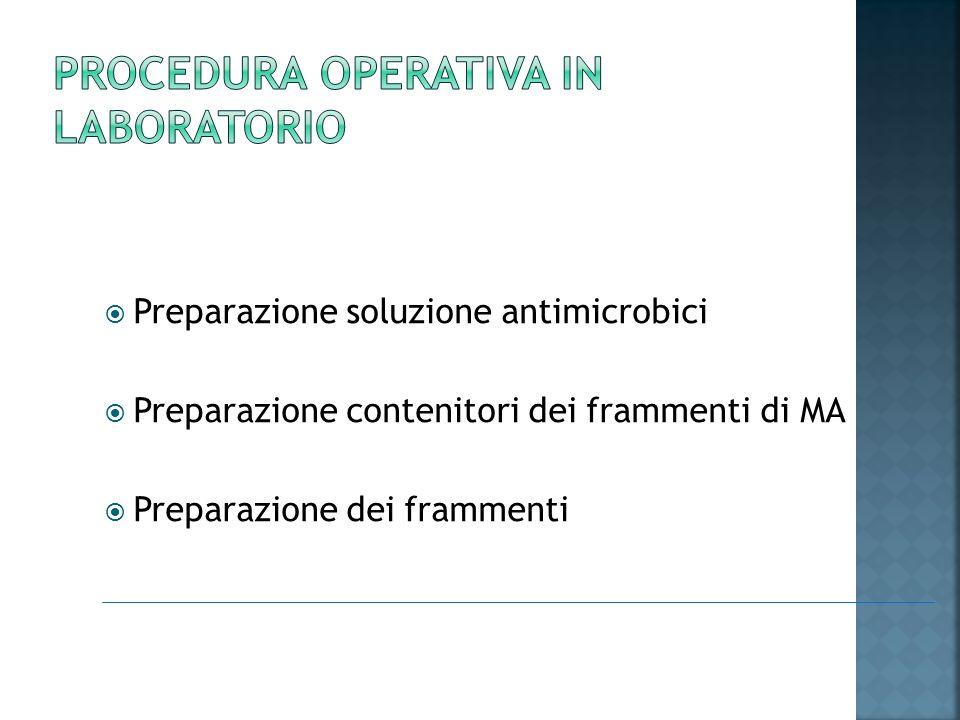 Procedura operativa in laboratorio