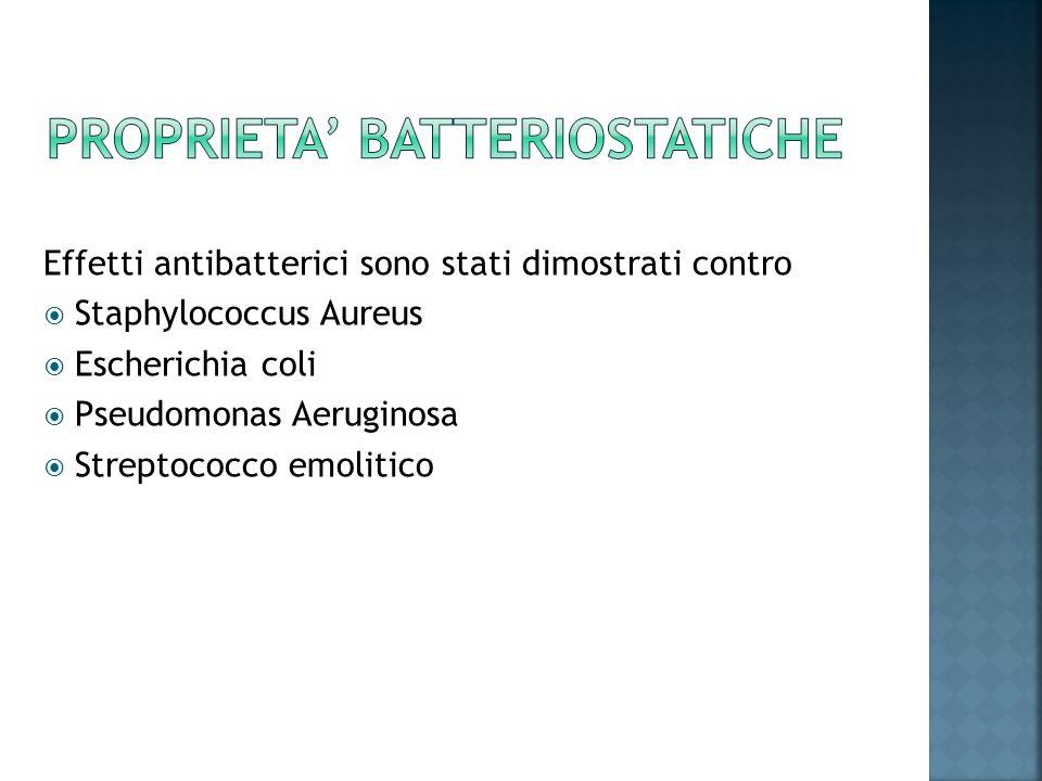 PROPRIETA' BATTERIOSTATICHE