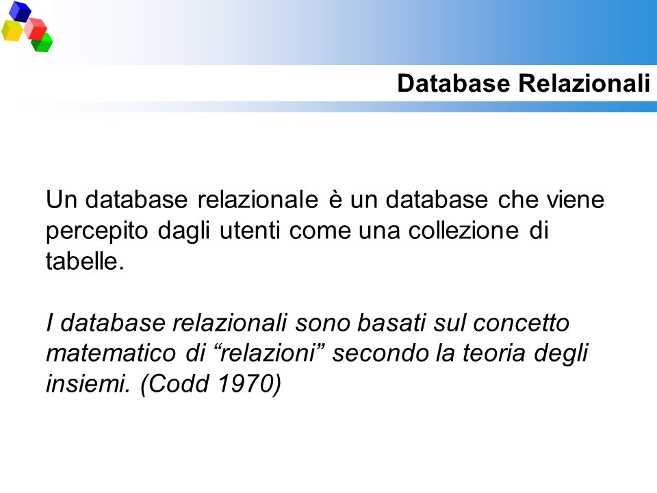 Database Relazionali