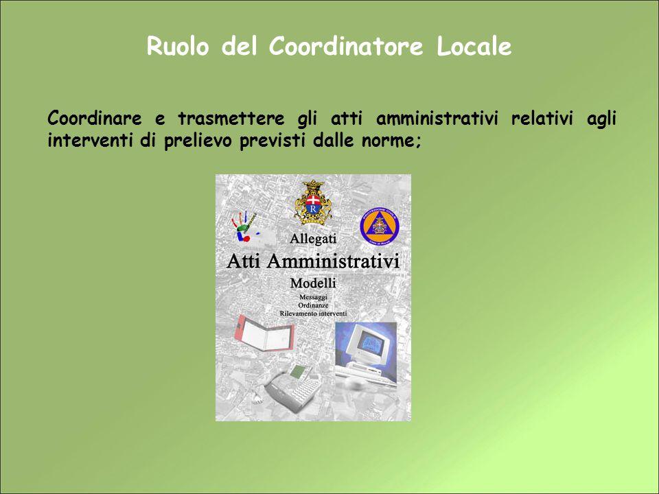 Ruolo del Coordinatore Locale