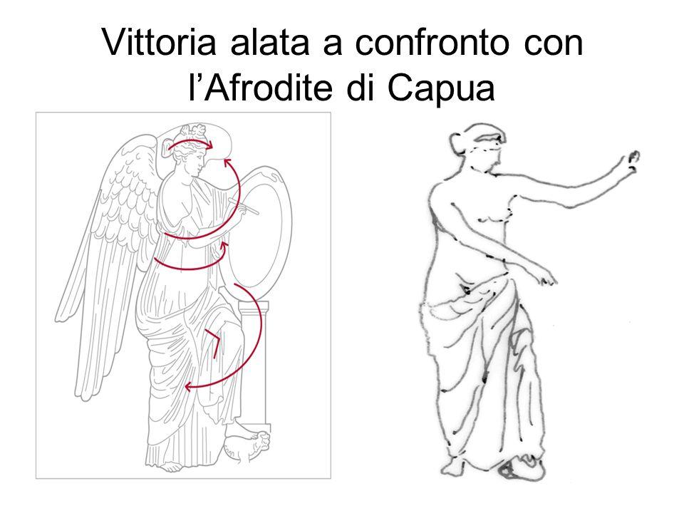 Vittoria alata a confronto con l'Afrodite di Capua