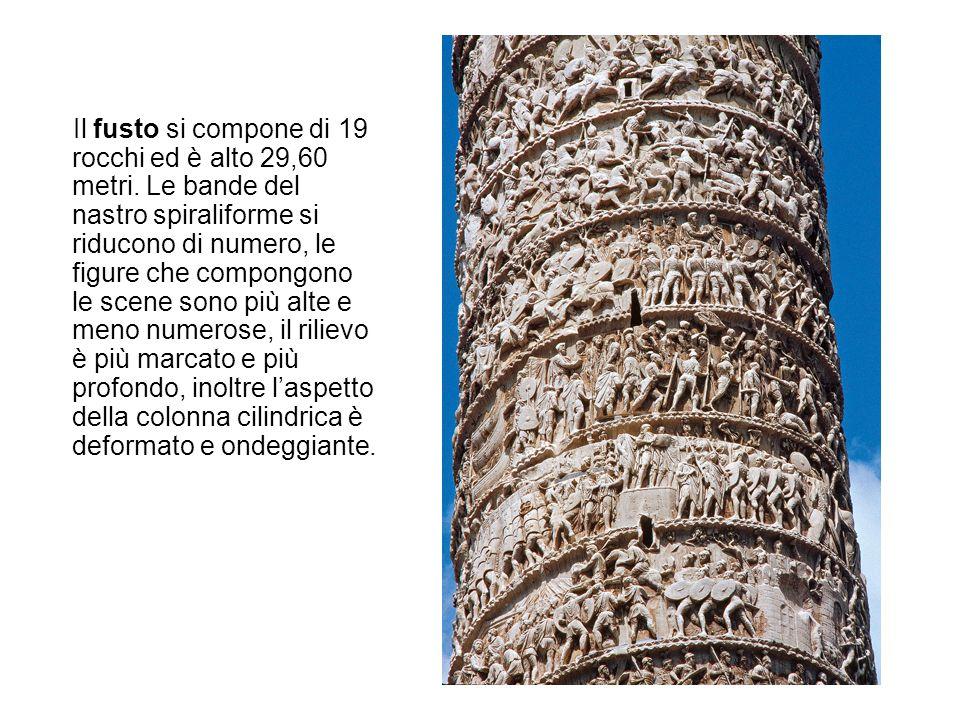 Il fusto si compone di 19 rocchi ed è alto 29,60 metri