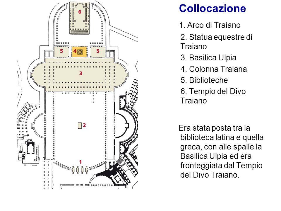 Collocazione 1. Arco di Traiano 2. Statua equestre di Traiano