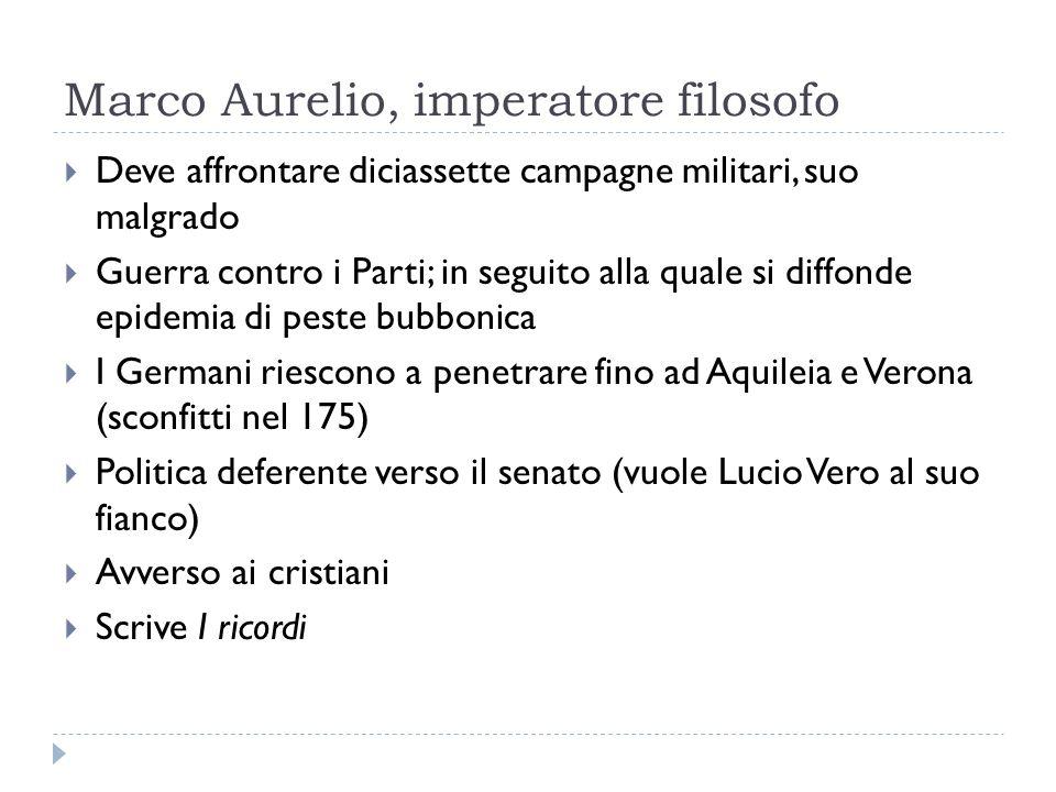 Marco Aurelio, imperatore filosofo