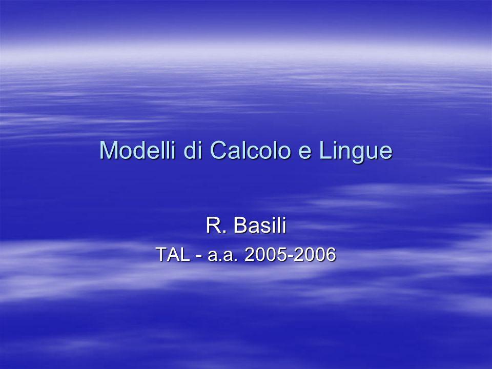Modelli di Calcolo e Lingue