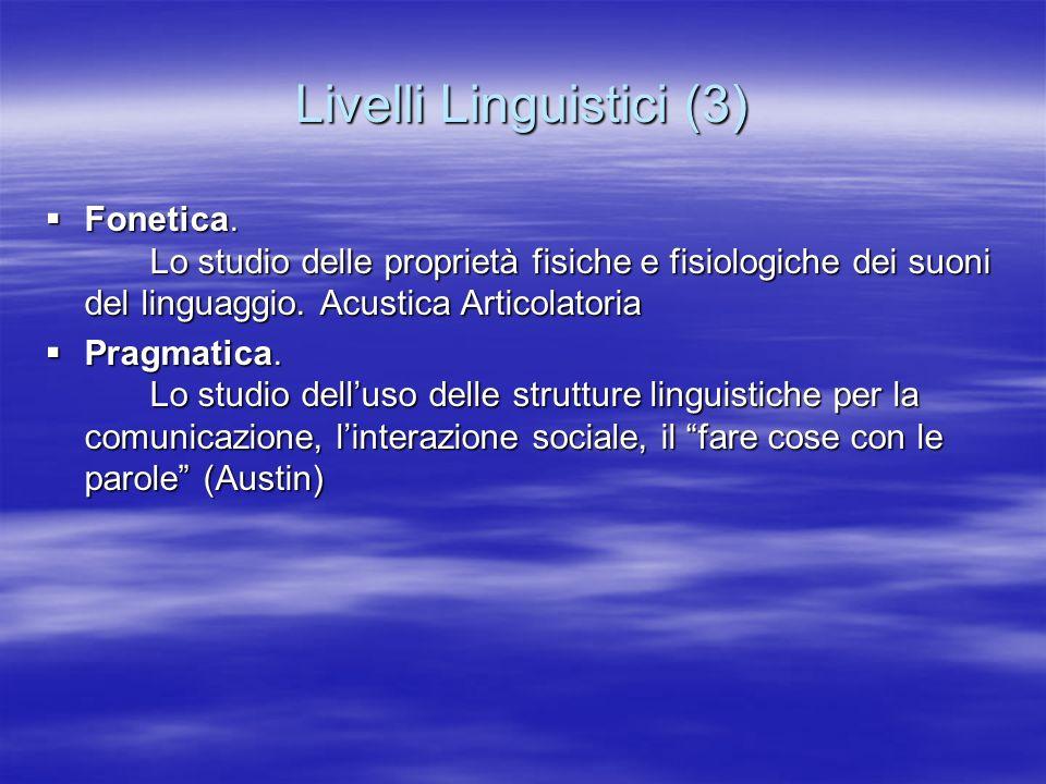 Livelli Linguistici (3)