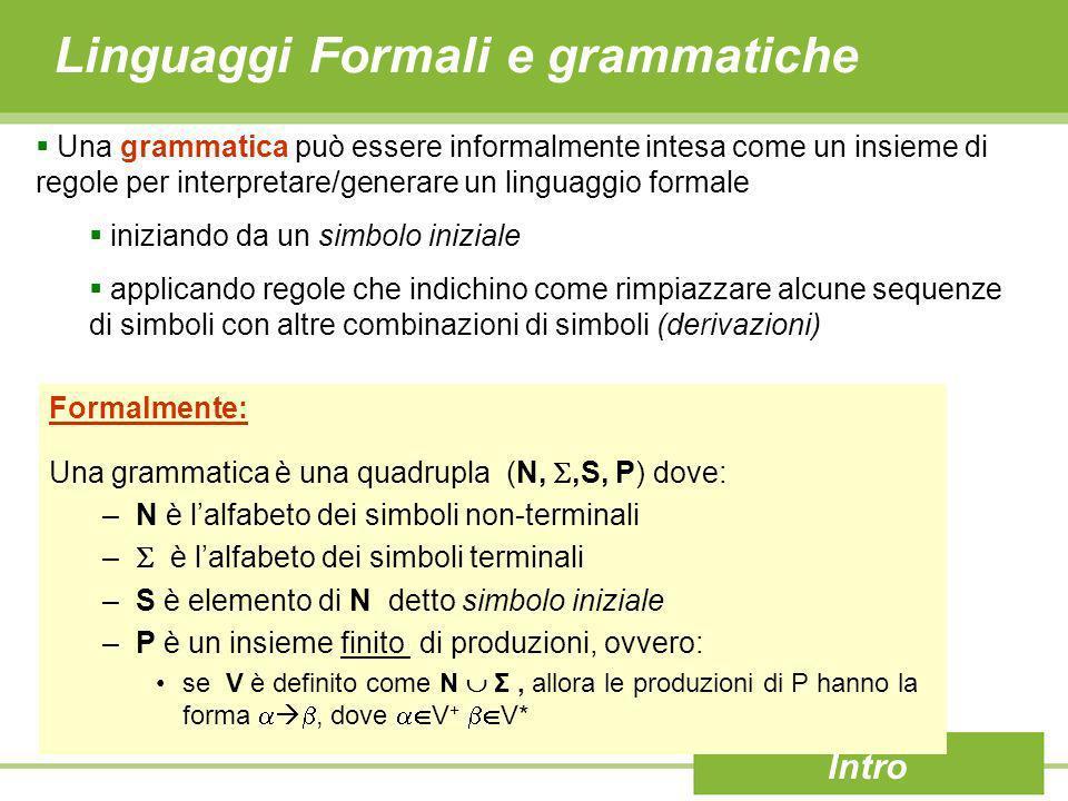 Linguaggi Formali e grammatiche