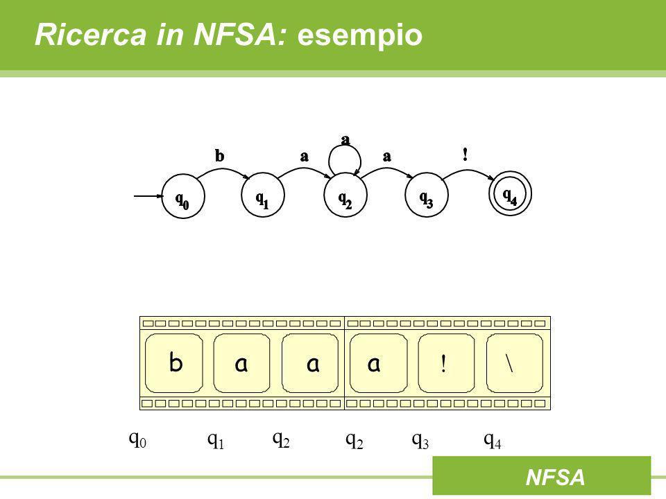 Ricerca in NFSA: esempio