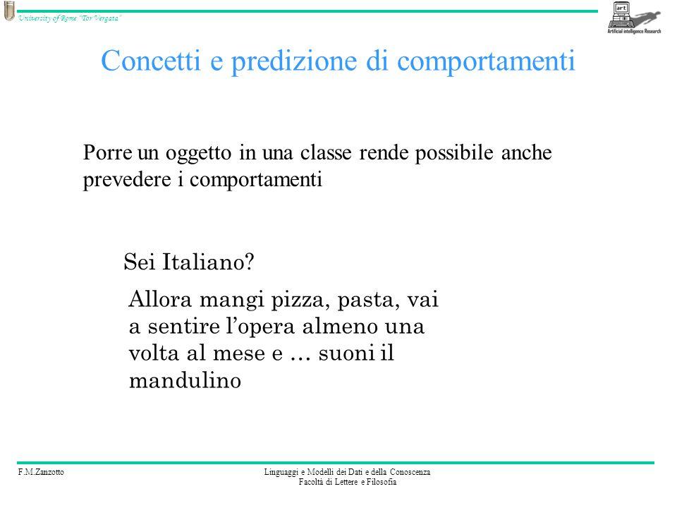 Concetti e predizione di comportamenti