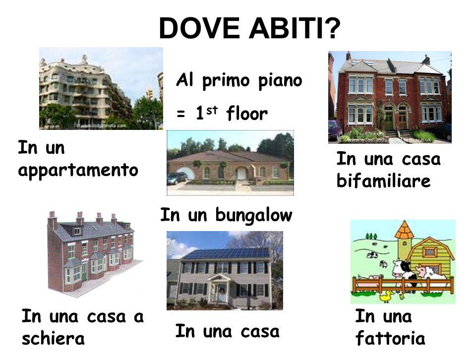 DOVE ABITI Al primo piano = 1st floor In un appartamento