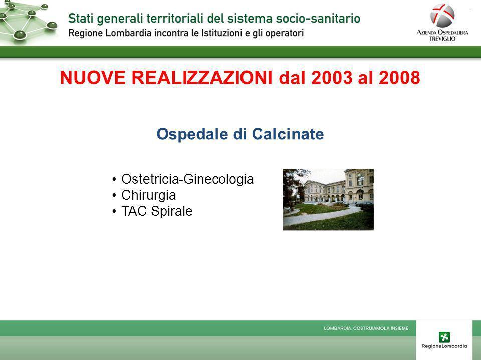 NUOVE REALIZZAZIONI dal 2003 al 2008