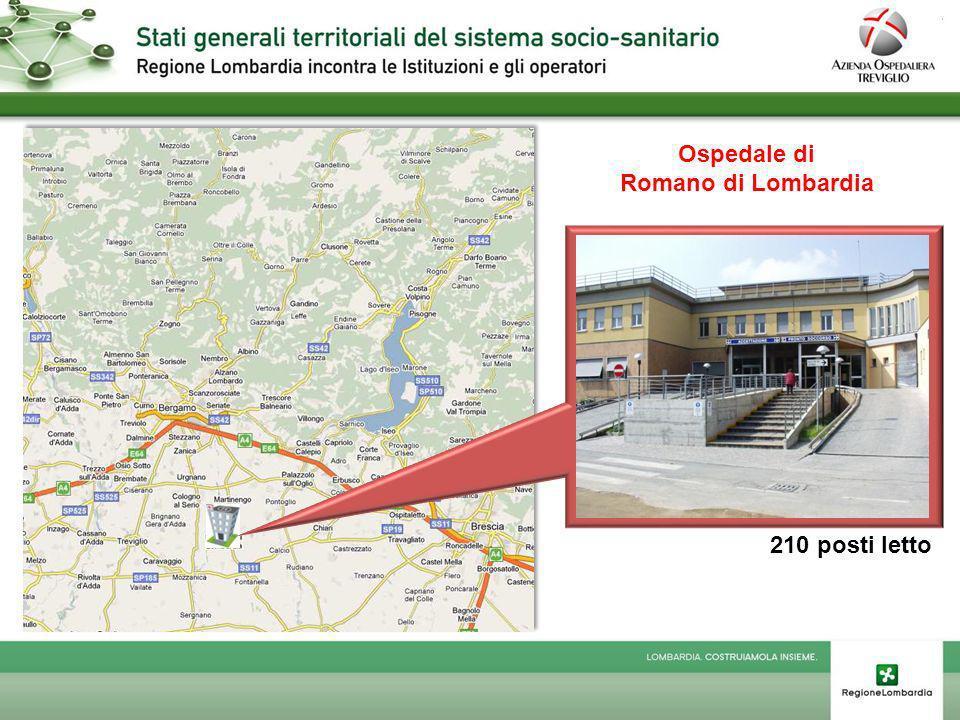 Ospedale di Romano di Lombardia 210 posti letto